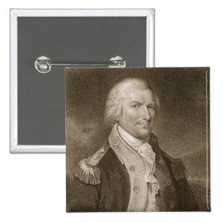 Generalmajor-Arthur-St. Clair, graviert von Edward Quadratischer Button 5,1 Cm