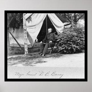 Generalmajor D.B. Birney 1864 Poster
