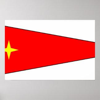 Generalmajor, Deutschland-Flagge Plakat
