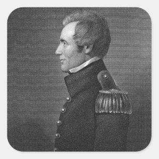 Generalmajor Edmund Pendleton Gaines (1777-1849) Quadrataufkleber