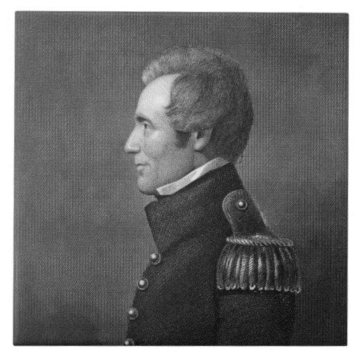 Generalmajor Edmund Pendleton Gaines (1777-1849) Keramikfliese