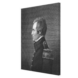 Generalmajor Edmund Pendleton Gaines (1777-1849) Galerie Falt Leinwand
