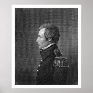 Generalmajor Edmund Pendleton Gaines (1777-1849) Poster