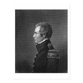 Generalmajor Edmund Pendleton Gaines (1777-1849) Postkarte