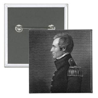 Generalmajor Edmund Pendleton Gaines (1777-1849) Quadratischer Button 5,1 Cm