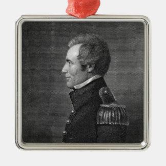 Generalmajor Edmund Pendleton Gaines (1777-1849) Quadratisches Silberfarbenes Ornament