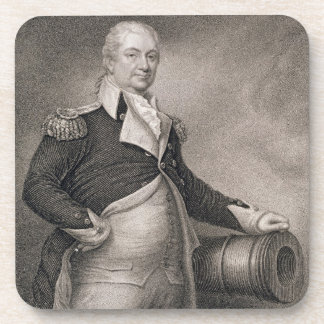 Generalmajor Henry Knox (1750-1806) graviert durch Cocktail Untersetzer