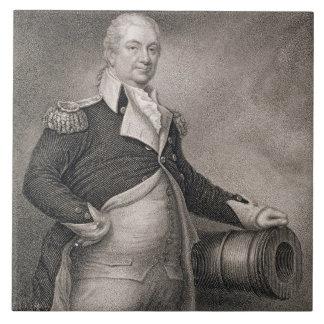 Generalmajor Henry Knox (1750-1806) graviert durch Große Quadratische Fliese