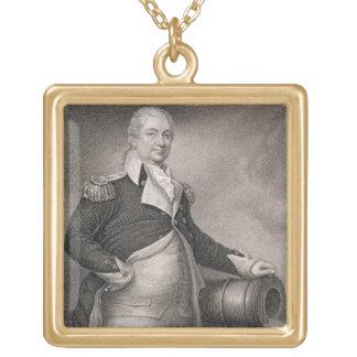 Generalmajor Henry Knox (1750-1806) graviert durch Halskette Mit Quadratischem Anhänger
