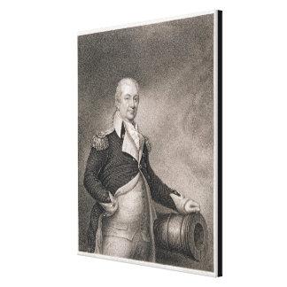 Generalmajor Henry Knox (1750-1806) graviert durch Leinwanddrucke