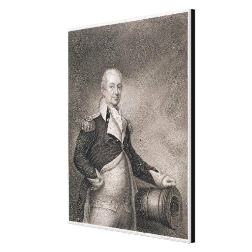 Generalmajor Henry Knox (1750-1806) graviert durch Galerie Falt Leinwand