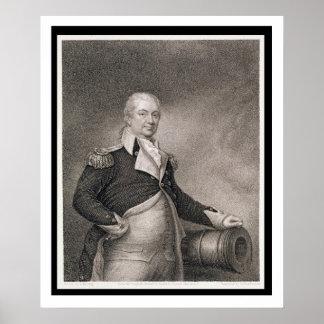 Generalmajor Henry Knox (1750-1806) graviert durch Poster