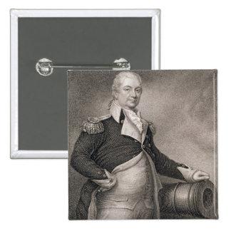 Generalmajor Henry Knox (1750-1806) graviert durch Quadratischer Button 5,1 Cm