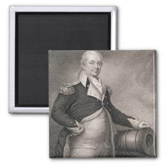 Generalmajor Henry Knox (1750-1806) graviert durch Quadratischer Magnet