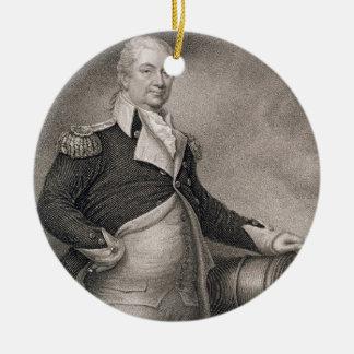 Generalmajor Henry Knox (1750-1806) graviert durch Rundes Keramik Ornament