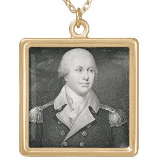Generalmajor Nathaniel Greene (1742-86), graviert Halskette Mit Quadratischem Anhänger