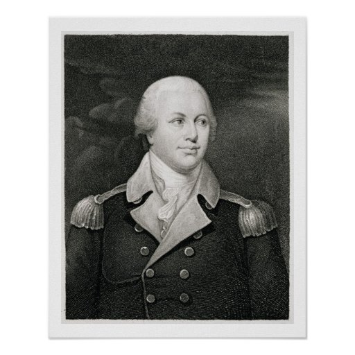Generalmajor Nathaniel Greene (1742-86), graviert Plakate