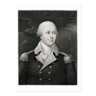 Generalmajor Nathaniel Greene (1742-86), graviert Postkarte