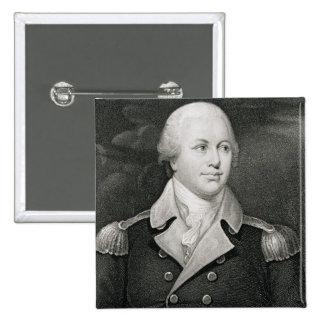 Generalmajor Nathaniel Greene (1742-86), graviert Quadratischer Button 5,1 Cm