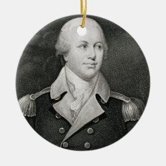 Generalmajor Nathaniel Greene (1742-86), graviert Rundes Keramik Ornament