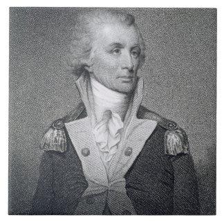 Generalmajor Thomas Sumter (1734-1832) gravierte b Große Quadratische Fliese