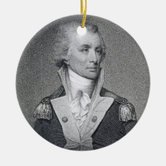 Generalmajor Thomas Sumter (1734-1832) gravierte b Rundes Keramik Ornament