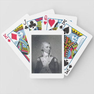 Generalmajor Thomas Sumter (1734-1832) gravierte b Poker Karten