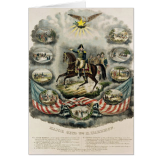 Generalmajor William Henry Harrison, c.1813 Karte