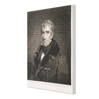 Generalmajor William Henry Harrison, vorbei gravie Galerie Falt Leinwand