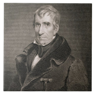 Generalmajor William Henry Harrison, vorbei gravie Große Quadratische Fliese