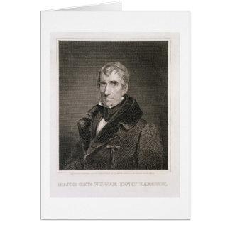 Generalmajor William Henry Harrison, vorbei gravie Grußkarte