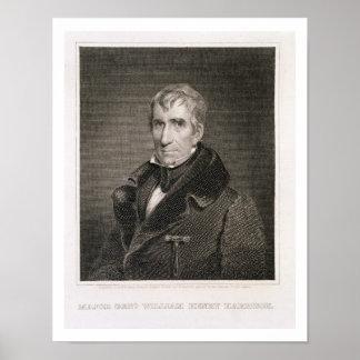 Generalmajor William Henry Harrison, vorbei gravie Poster