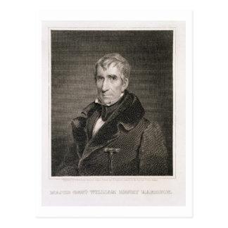 Generalmajor William Henry Harrison, vorbei gravie Postkarte