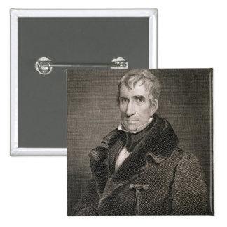 Generalmajor William Henry Harrison, vorbei gravie Quadratischer Button 5,1 Cm