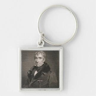Generalmajor William Henry Harrison, vorbei gravie Schlüsselbänder