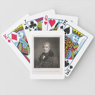 Generalmajor William Henry Harrison, vorbei gravie Pokerkarten