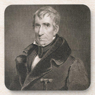 Generalmajor William Henry Harrison, vorbei gravie Untersetzer