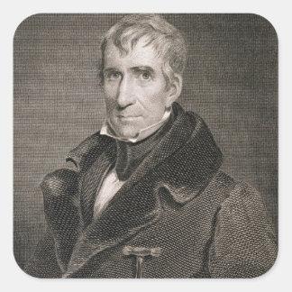 Generalmajor William Henry Harrison, vorbei Quadrat-Aufkleber