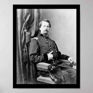 Generalmajor Winfield S. Hancock Poster
