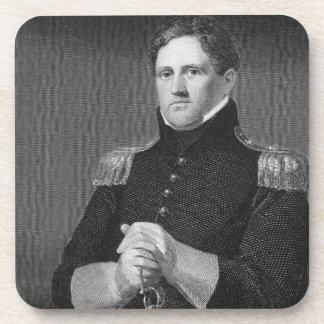 Generalmajor Winfield Scott (1786-1866) graviert Getränk Untersetzer