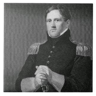Generalmajor Winfield Scott (1786-1866) graviert Große Quadratische Fliese