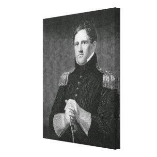 Generalmajor Winfield Scott (1786-1866) graviert Galerie Faltleinwand