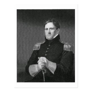 Generalmajor Winfield Scott (1786-1866) graviert Postkarten