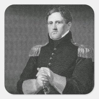 Generalmajor Winfield Scott (1786-1866) graviert Quadratischer Aufkleber