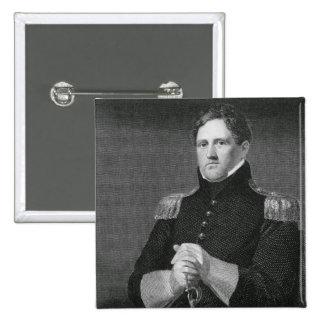 Generalmajor Winfield Scott (1786-1866) graviert Quadratischer Button 5,1 Cm