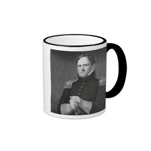 Generalmajor Winfield Scott (1786-1866) graviert Kaffeetassen
