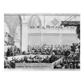 Generalversammlung der Kirche von Schottland Postkarte