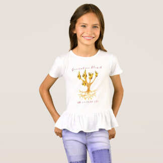 """""""Generation gesegnet"""", die Rüsche-Spitze des T-Shirt"""