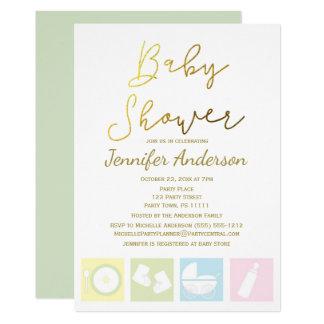 Generische Unisexjungen-oder Mädchen-Babyparty 12,7 X 17,8 Cm Einladungskarte