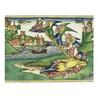 Genese 28 10 Jakobs Leiter, vom 'Nürnberg Postkarte